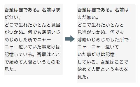 改行 しない html